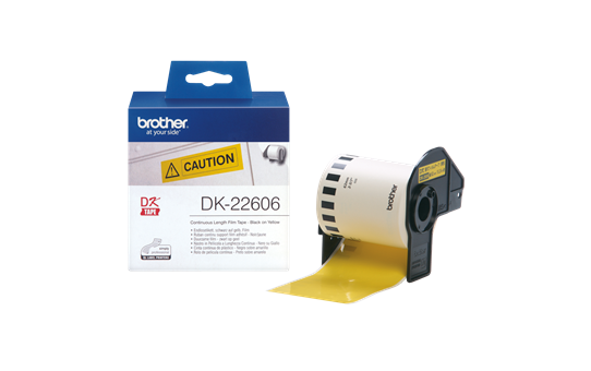 BROTHER Label tape/ yellow 62mmx15.24m f QL-serie (DK22606)